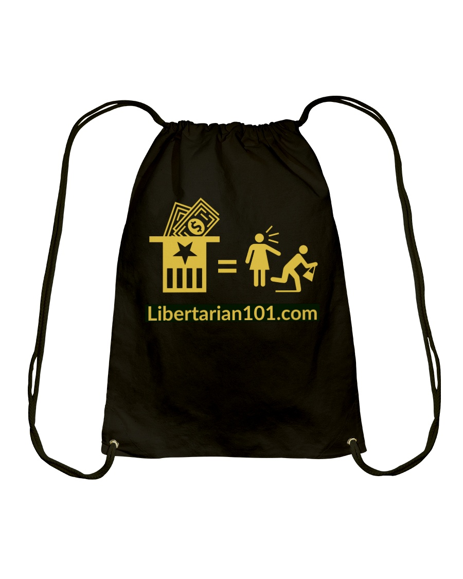 Taxation is what Drawstring Bag