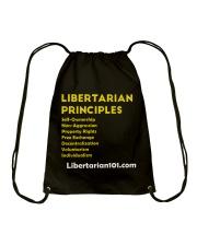 Libertarian Principles T-Shirt Drawstring Bag thumbnail