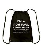 Ron Paul Libertarian T-Shirt Drawstring Bag thumbnail