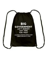 Big Government T-Shirt Drawstring Bag thumbnail