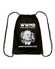 What Would Mises Do T-Shirt Drawstring Bag front
