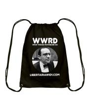 What Would Rothbard Do T-Shirt Drawstring Bag front