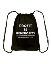 Profit is Generosity T-Shirt Drawstring Bag thumbnail