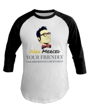 Alex Merced Neighborhood T-Shirt Baseball Tee front