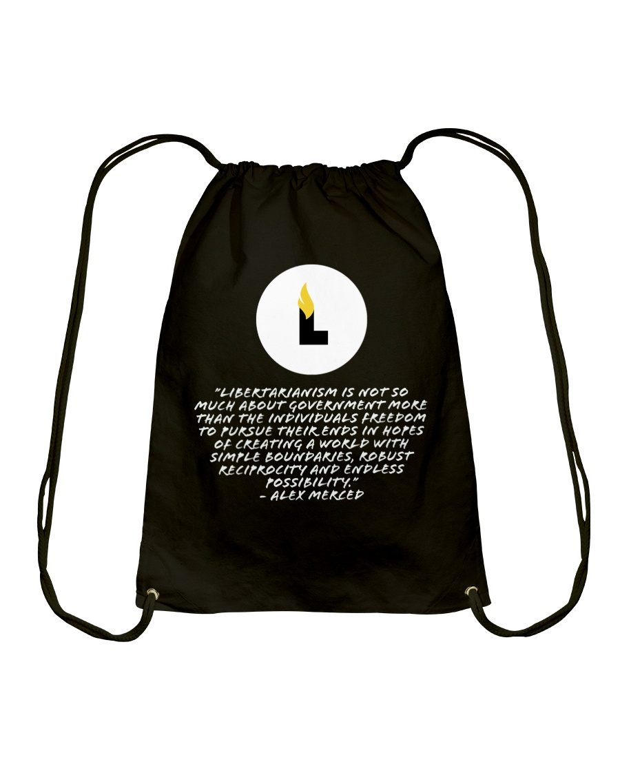 What is Libertarianism Drawstring Bag