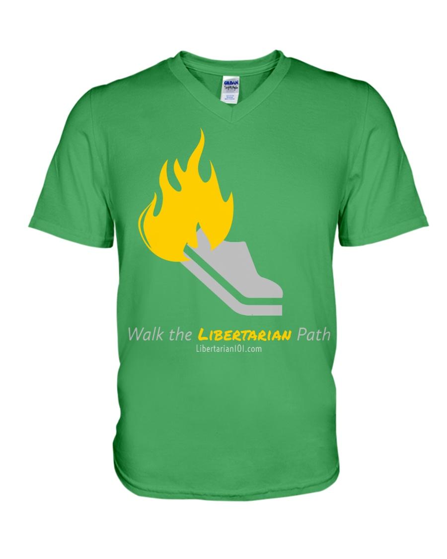 Walk the Liberty Path T-Shirt V-Neck T-Shirt