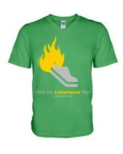 Walk the Liberty Path T-Shirt V-Neck T-Shirt front