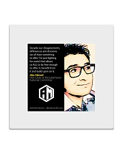 Alex Merced Quote 1 Square Coaster front