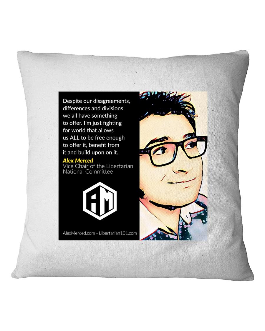 Alex Merced Quote 1 Square Pillowcase