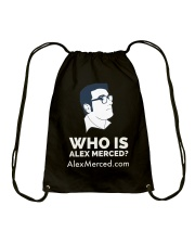 Who is Alex Merced T-Shirt Drawstring Bag front