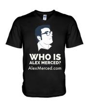 Who is Alex Merced T-Shirt V-Neck T-Shirt thumbnail