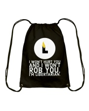 I am Libertarian T-Shirt Drawstring Bag thumbnail