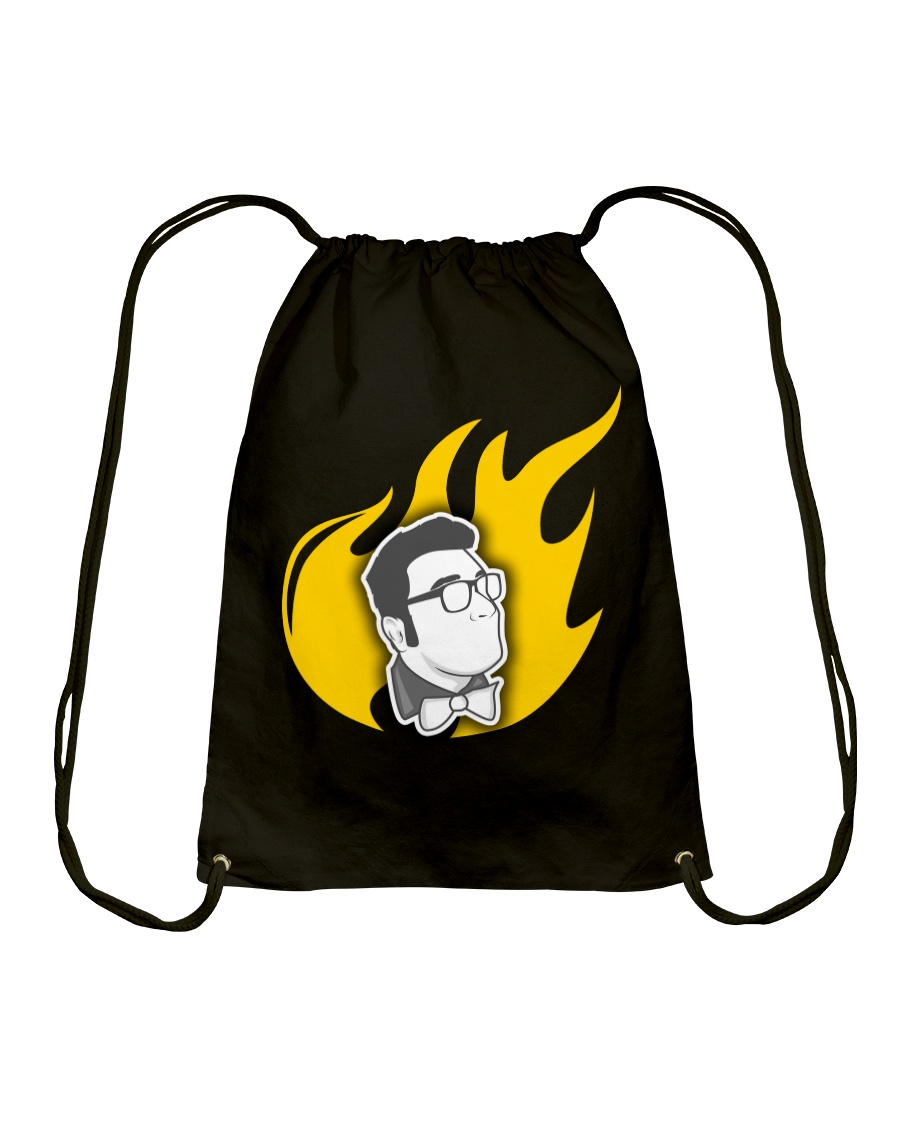 Alex Merced Liberty Flame T-Shirt Drawstring Bag