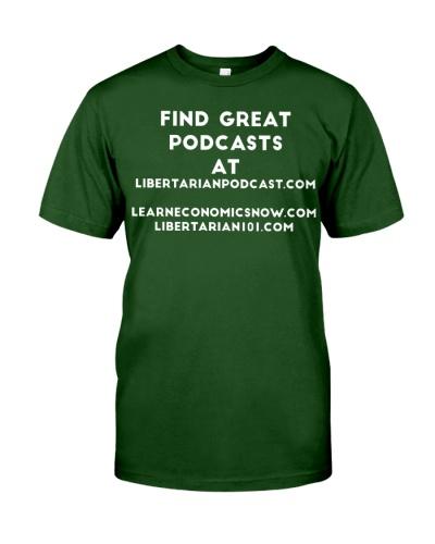 Find Libertarian Podcast T-Shirt