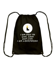I am Libertarian T-Shirt Drawstring Bag thumbnail