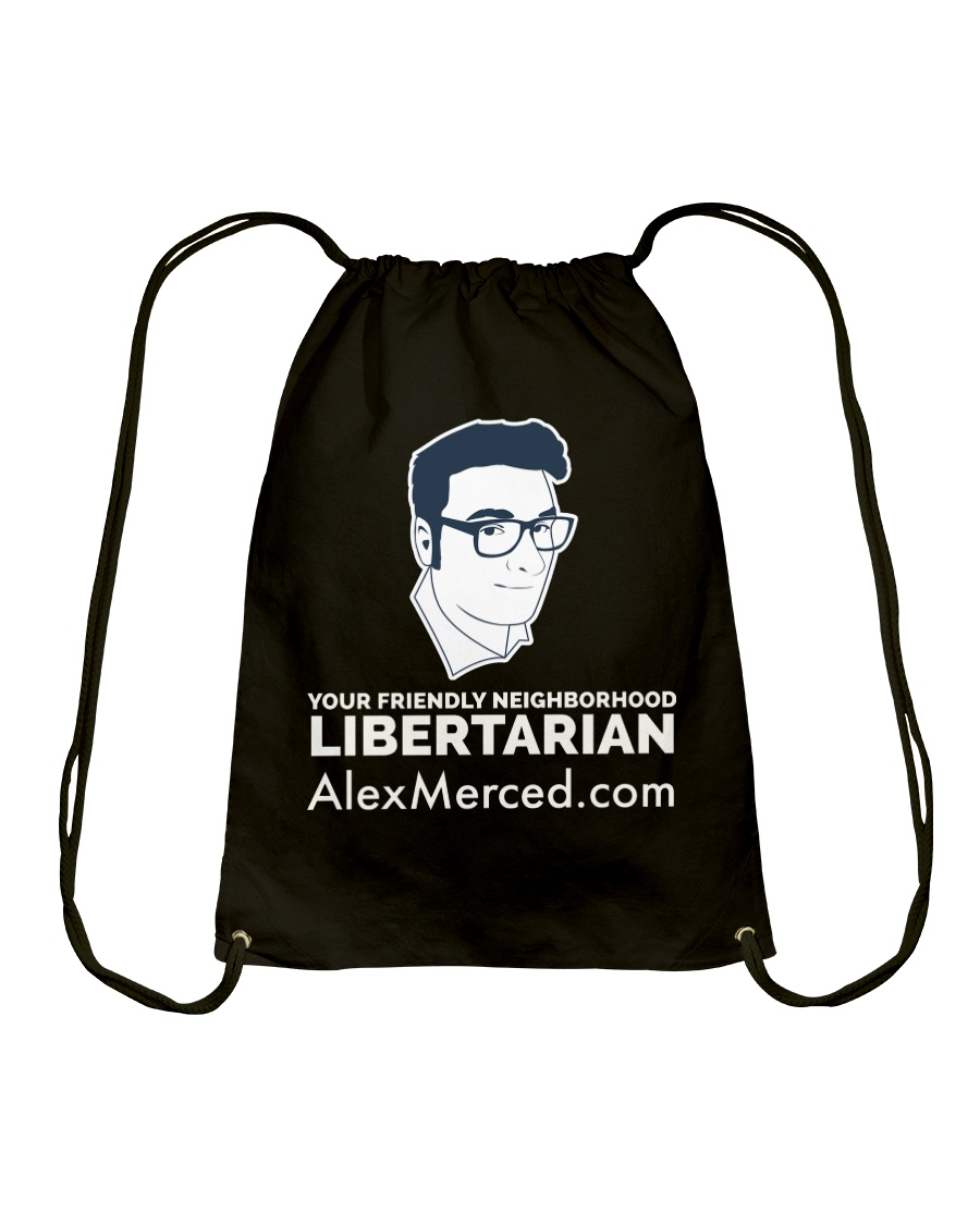Friendly Libertarian T-Shirt Drawstring Bag