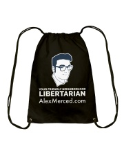 Friendly Libertarian T-Shirt Drawstring Bag front