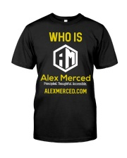 Who is Alex Merced T-Shirt Premium Fit Mens Tee tile