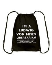 Mises Libertarian T-Shirt Drawstring Bag thumbnail