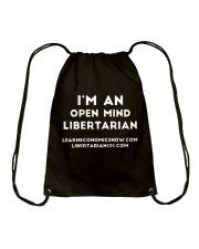 Open Mind Libertarian T-Shirt Drawstring Bag thumbnail