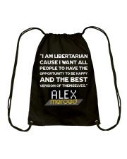 Be Happy and Your Best-Self Drawstring Bag front