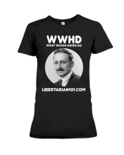 What Would Hayek Do T-Shirt Premium Fit Ladies Tee tile