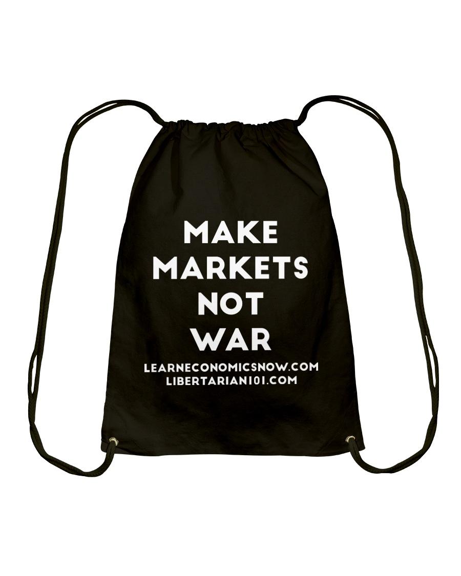 Make Markets Not War T-Shirt Drawstring Bag