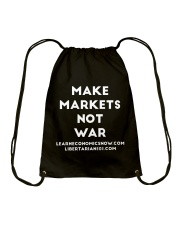Make Markets Not War T-Shirt Drawstring Bag thumbnail