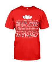 Life of Love T-Shirt Classic T-Shirt front
