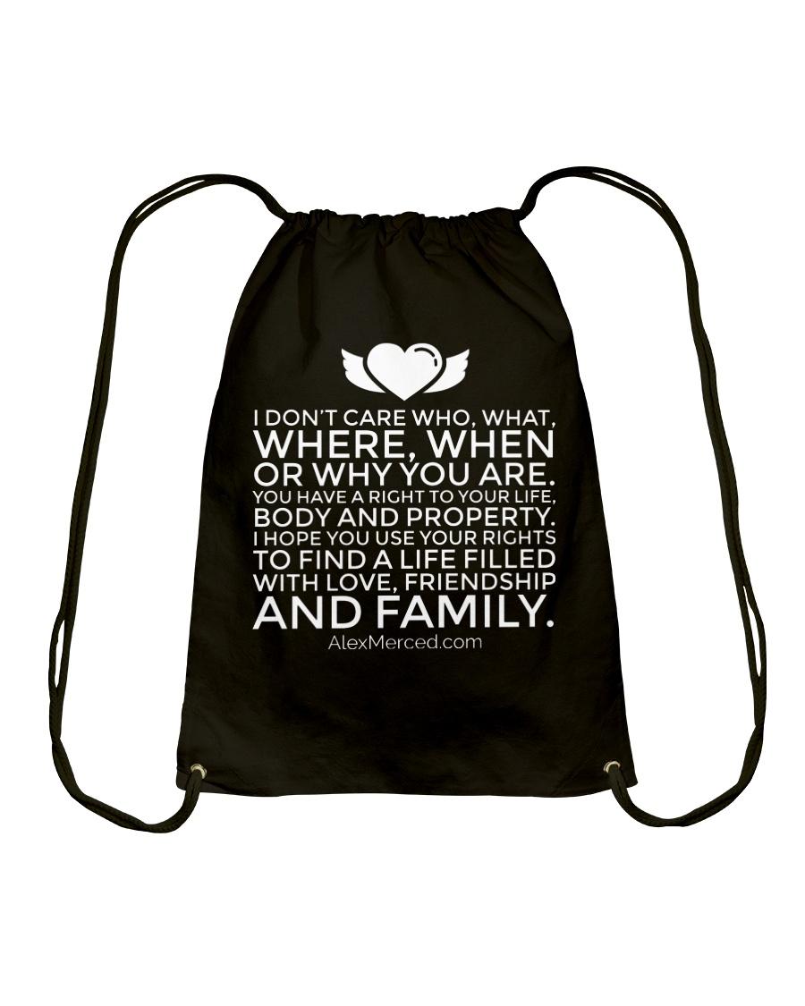 Life of Love T-Shirt Drawstring Bag
