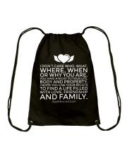 Life of Love T-Shirt Drawstring Bag thumbnail