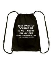 No Tariffs T-Shirt Drawstring Bag thumbnail