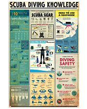 SCUBA DRIVE KNOWLEDGE  24x36 Poster front