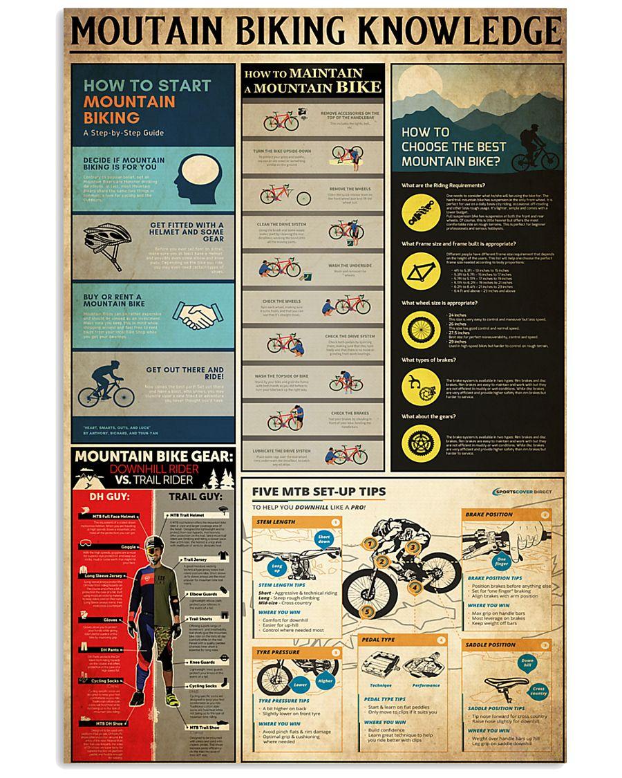 MOUTAIN BIKING KNOWLEDGE 24x36 Poster