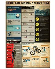 MOUTAIN BIKING KNOWLEDGE 24x36 Poster front