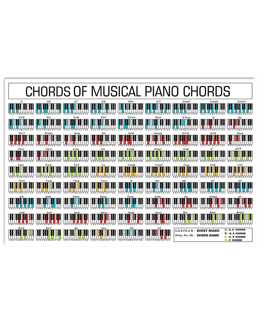 Piano Chord 17x11 Poster