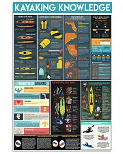 KAYAKING KNOWLEDGE 24x36 Poster front