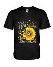 Love Butterfly OK V-Neck T-Shirt thumbnail