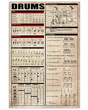 Drums Chart 11x17 Poster front