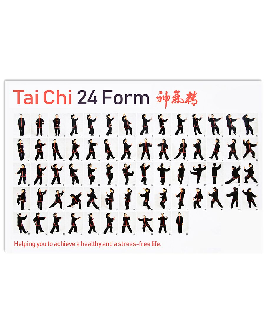 Tai Chi 24 Form  17x11 Poster