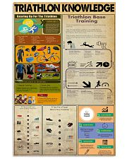 TRIATHLON KNOWLEDGE  24x36 Poster front