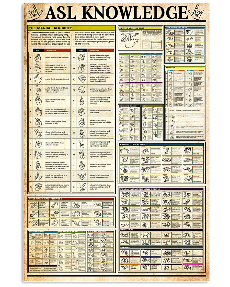 ASL Knowledge 11x17 Poster