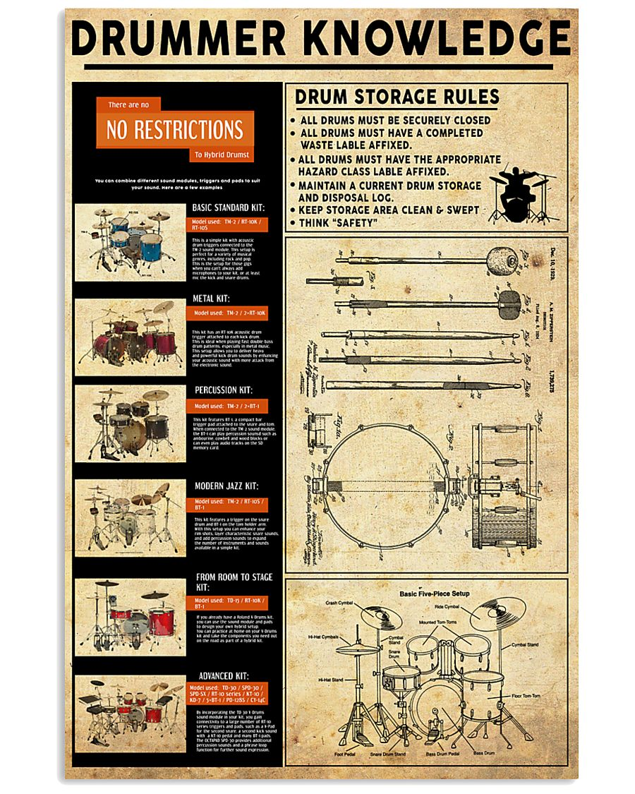 Drums Knowledge 11x17 Poster
