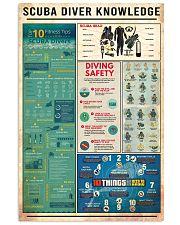 SCUBA DIVER KNOWLEDGE  24x36 Poster front