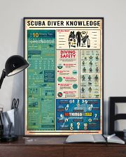 SCUBA DIVER KNOWLEDGE  24x36 Poster lifestyle-poster-2