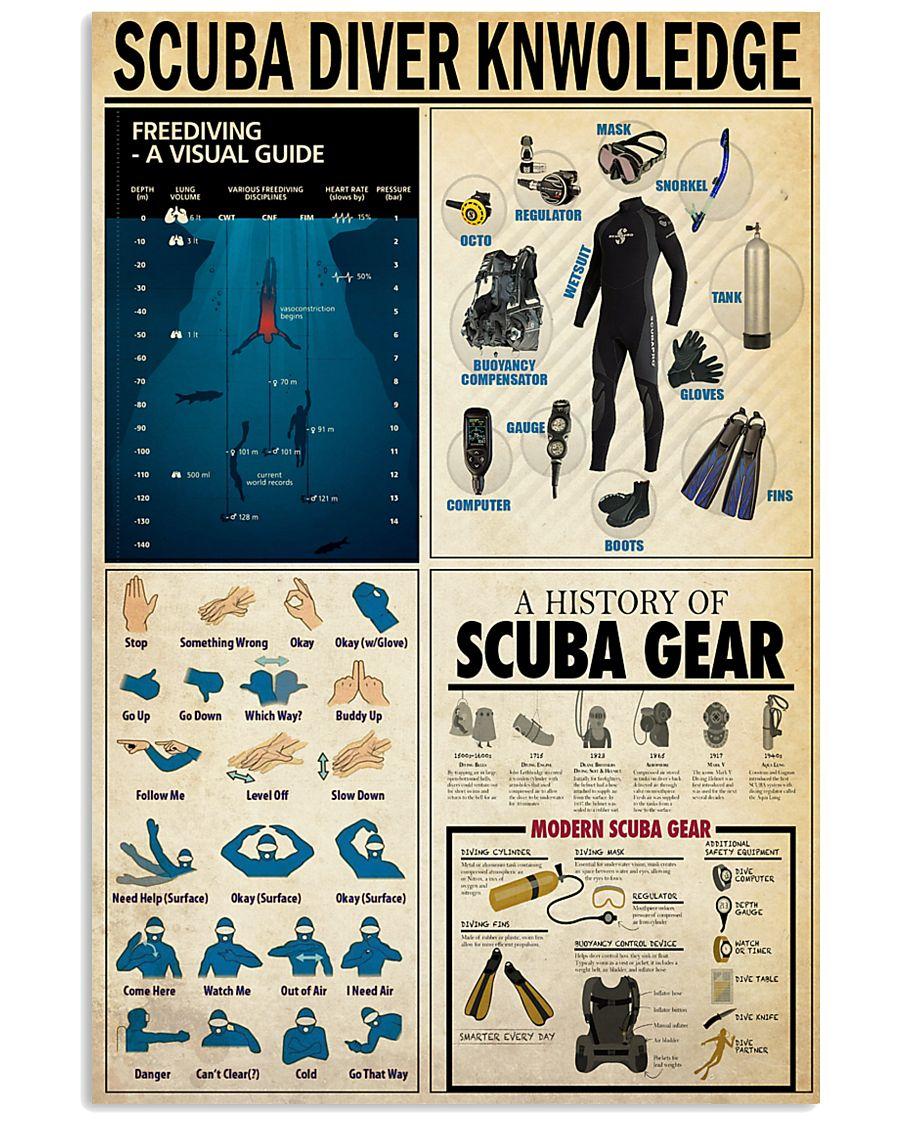 SCUBA DIVER KNOWLEDGE  24x36 Poster