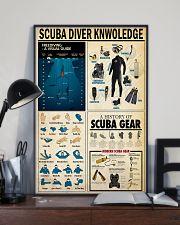 SCUBA DIVER KNOWLEDGE  24x36 Poster lifestyle-poster-2