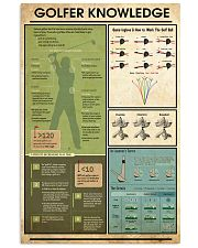 Golfer Knowledge  11x17 Poster front