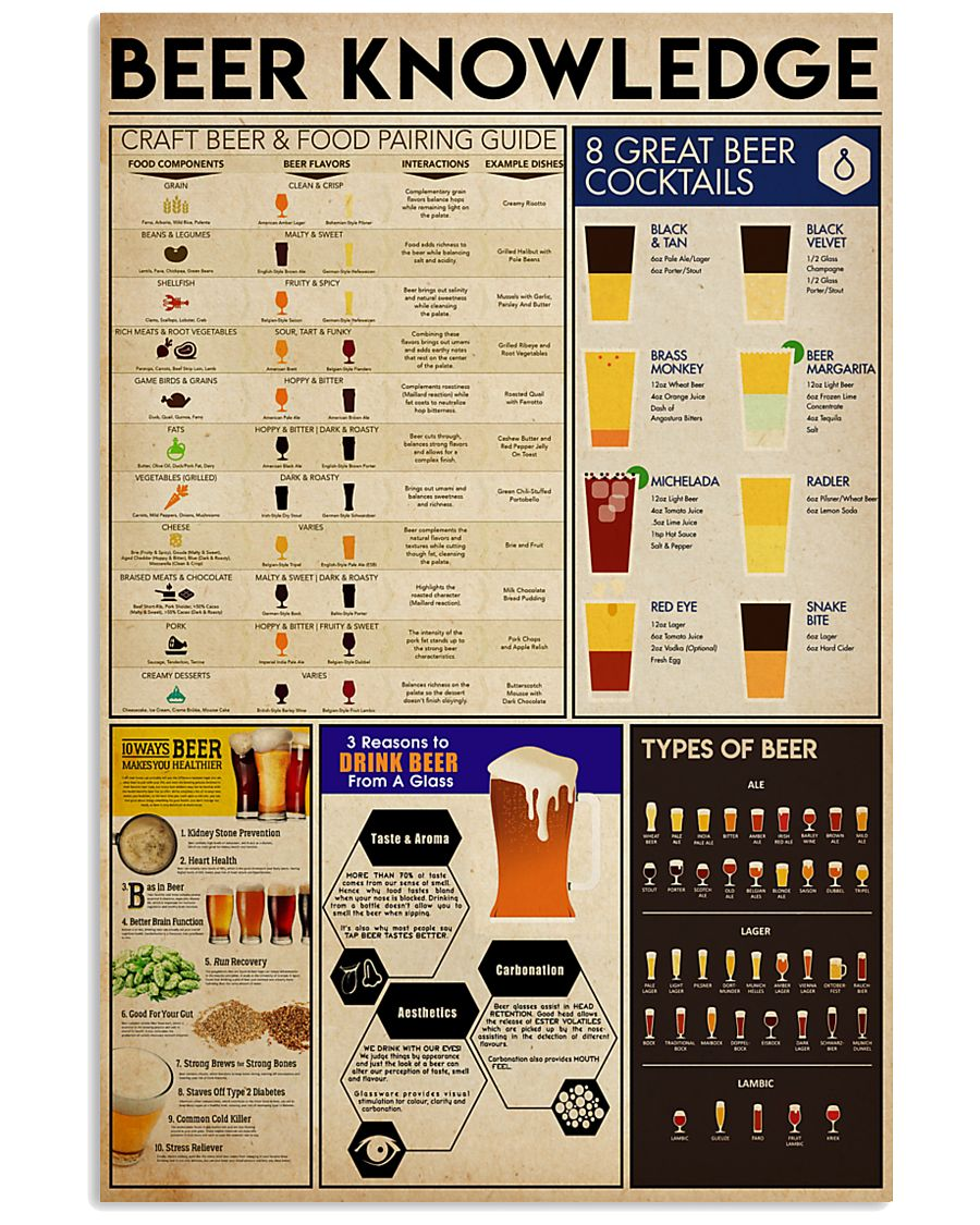 BEER KNOWLEDGE  24x36 Poster