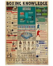 BOXING KNOWLEDGE 24x36 Poster front